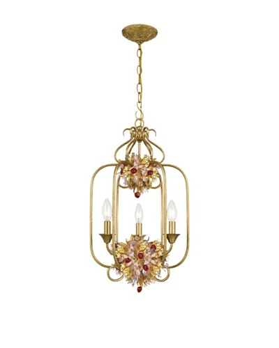 Gold Coast Lighting Antique Gold Leaf Wrought Iron Lantern