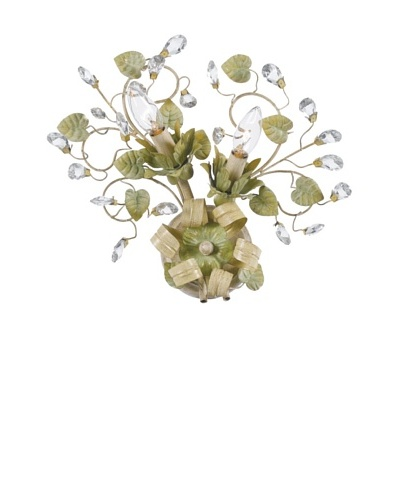 Gold Coast Lighting Champagne Green Tea Wall Sconce