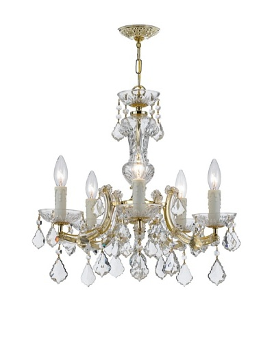 Gold Coast Lighting Polished Brass Chandelier, Gold