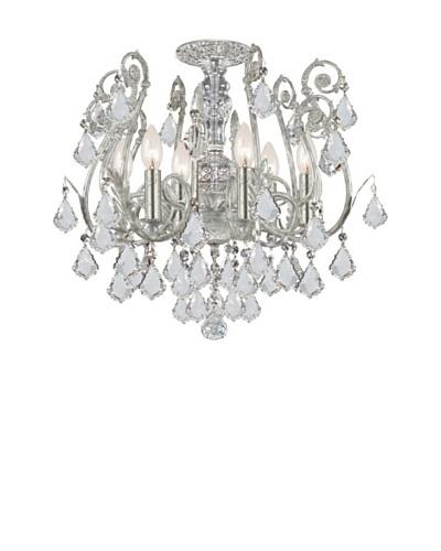 Swarovski Chandeliers by Gold Coast Lighting Sylvie Olde Silver Semi Flush Mount