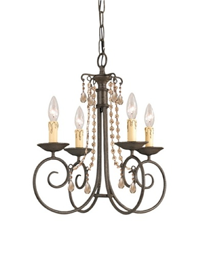 Gold Coast Lighting Small Huntington Chandelier, Dark Rust