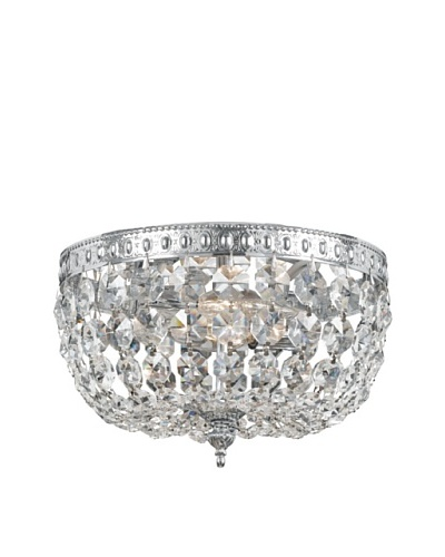 Gold Coast Lighting Richmond Collection Crystal Flush-Mount Chandelier [Polished Chrome]