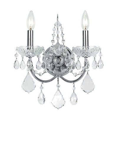 Swarovski Chandeliers by Gold Coast Lighting Elegant Wall Sconce, Polished Chrome