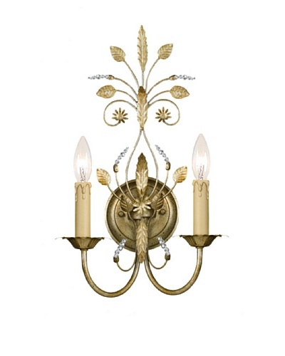 Gold Coast Lighting Tabitha Wall Sconce, Gold