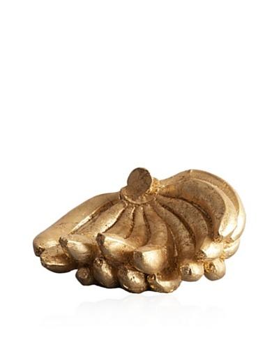 Gold Leaf Design Gilded Resin Banana Cluster