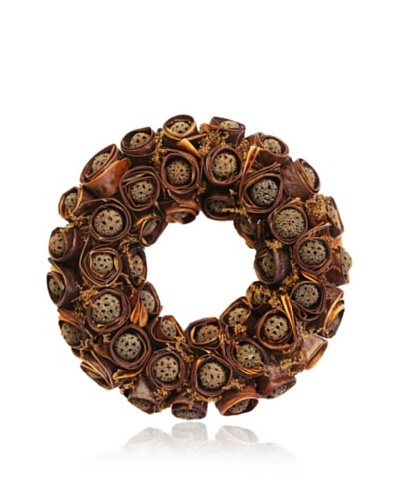 Gold Leaf Design Sweet Gum Ball Wreath