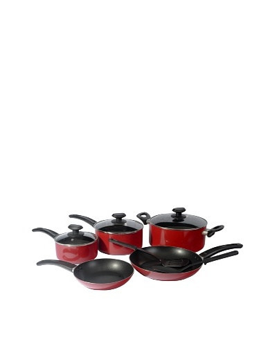 Gordon Ramsay by Royal Doulton Everyday 10-Piece Non-Stick Cookware Set [Red]
