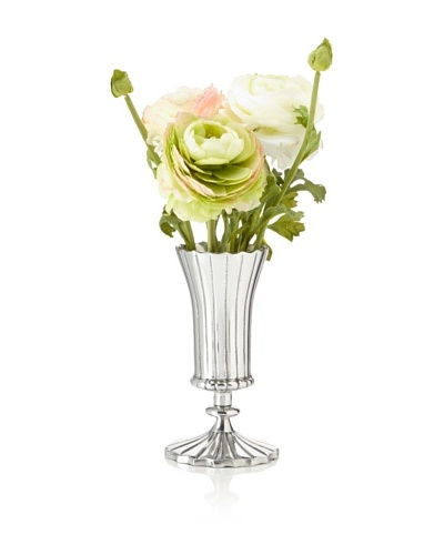 Winward Ranunculus In Silver Vase