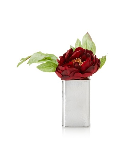 Winward Red Peony In Silver Box