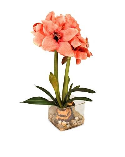 New Growth Designs Faux Amaryllis Bulb Plant