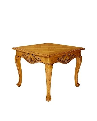 Grange Square Parquet Top Lamp Table, Oak