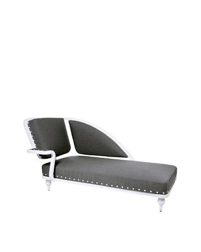 Grange Paris Meridienne Left Chaise, White