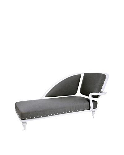 Grange Paris Meridienne Right Chaise, White