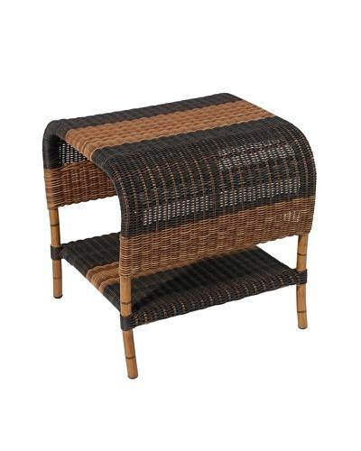 Grange Velum End Table, Black/Mocha