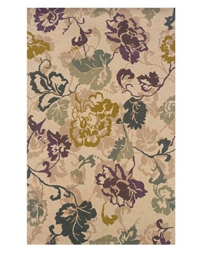 Granville Rugs Floral Garden Rug [Cream/Multi]