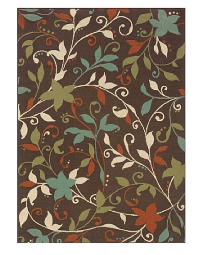 Granville Rugs Monterey Indoor/Outdoor Area Rug [Brown Multi]