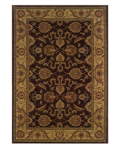 Granville Rugs Tuscany Rug [Brown/Beige/Blue/Gold]