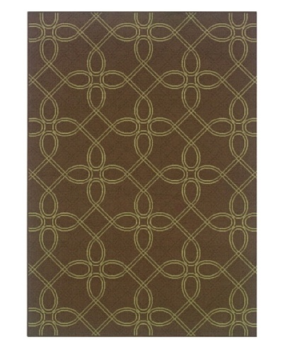 Granville Rugs Monterey Indoor/Outdoor Area Rug [Brown/Green]