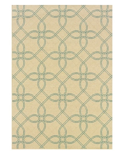 Granville Rugs Monterey Indoor/Outdoor Area Rug [Cream/Blue]