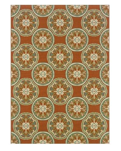 Granville Rugs Monterey Indoor/Outdoor Area Rug [Orange Multi]