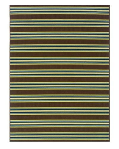 Granville Rugs Coastal Indoor/Outdoor Area Rug [Ivory/Blue/Green/Brown]