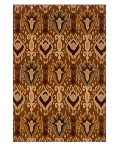 Granville Rugs Ashley Rug [Red/Gold/Beige/Brown/Grey]