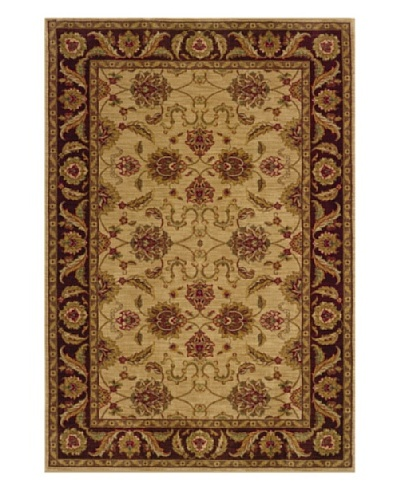 Granville Rugs Tuscany Rug [Beige/Red/Green/Gold]