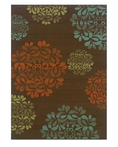 Granville Rugs Monterey Indoor/Outdoor Area Rug [Brown Multi]