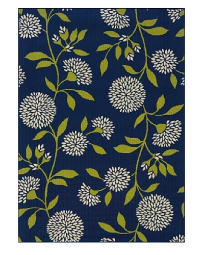 Granville Rugs Coastal Indoor/Outdoor Area Rug [Ivory/Blue/Green]