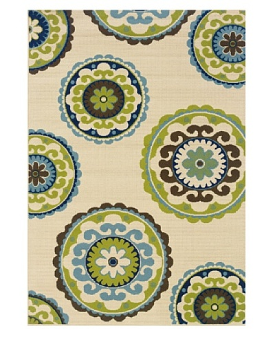 Granville Rugs 859J6 Granville Coastal 859J6 Indoor/Outdoor Polypropylene Area Rug 1'9 X 3'9
