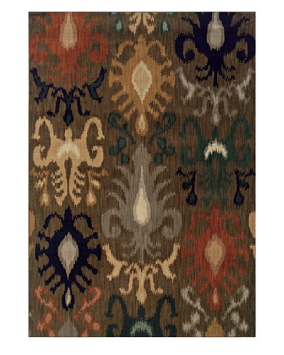 Granville Rugs Morocco Rug [Grey/Beige/Gold/Navy/Green]