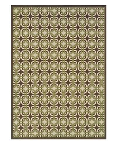 Granville Rugs Monterey Indoor/Outdoor Area Rug [Green/Brown]