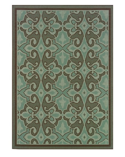 Granville Rugs Monterey Indoor/Outdoor Area Rug [Blue/Brown]