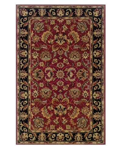 Granville Rugs York Rug [Black/Red/Brown/Green/Blue]