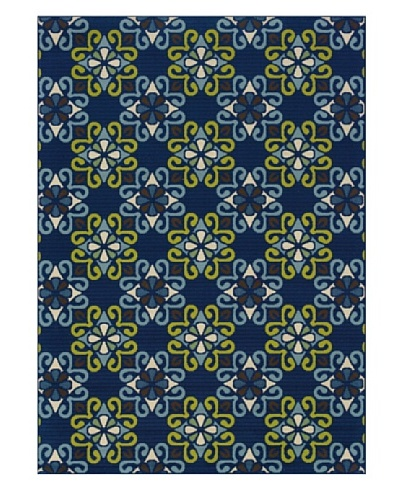 Granville Rugs 3331L Granville Coastal 3331L Indoor/Outdoor Polypropylene Area Rug 1'9 X 3'9