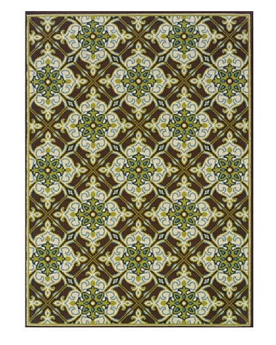 Granville Rugs Coastal Indoor/Outdoor Area Rug [Ivory/Blue/Green/Brown]