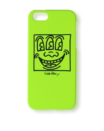 Keith Haring Collection Bezel Case for iPhone 5 with Earphones Face/Yellow