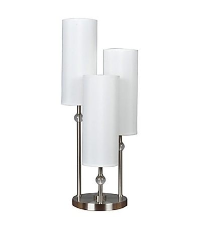 Greenwich Lighting Bolivar 3-Arm Table Lamp, Brushed NickelAs You See
