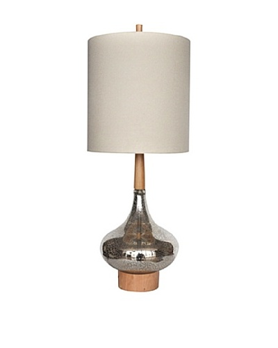 Greenwich Lighting Flash Back Table Lamp, Antique Glass/Wood