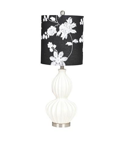 Greenwich Lighting Circa Cream Table Lamp, Cream/Black
