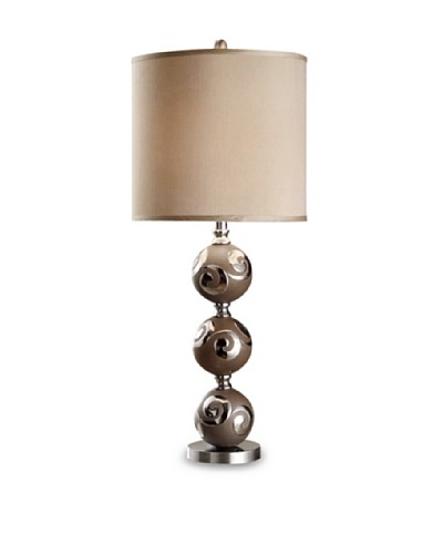 Greenwich Lighting Gia Table Lamp, Mocha/SilverAs You See