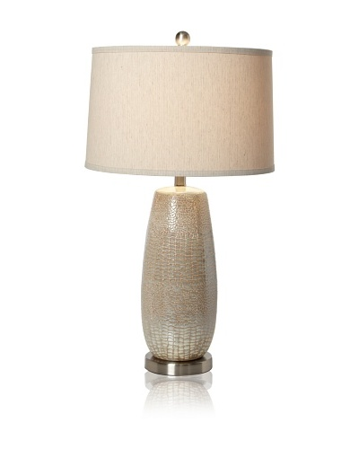 Greenwich Lighting Melrose Table Lamp, Rouen SilverAs You See