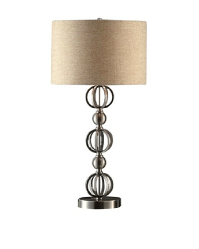 Greenwich Lighting Circles Table Lamp, Brushed Nickel