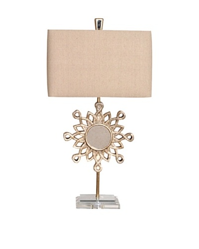 Greenwich Lighting Starlight Table Lamp, Toasted Silver/Antique Mirror