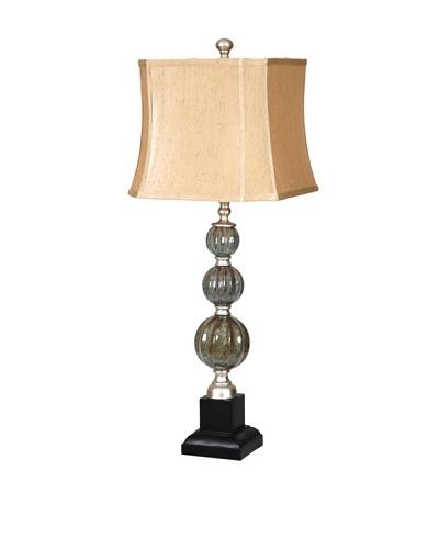 Savoy Table Lamp, Blue Stone/Black