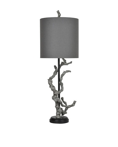 Greenwich Lighting Twisted Branch Table Lamp, Bleached Gray