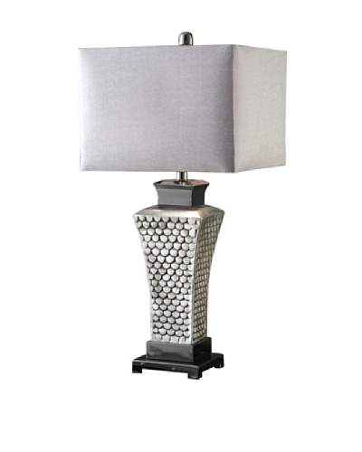 Greenwich Lighting Winmark Table Lamp, Polished Aluminum/Black NickelAs You See