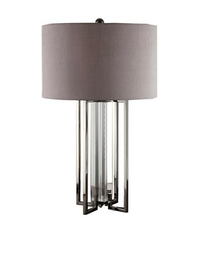 Greenwich Lighting Tensdale Table Lamp, Black Nickel/Crystal