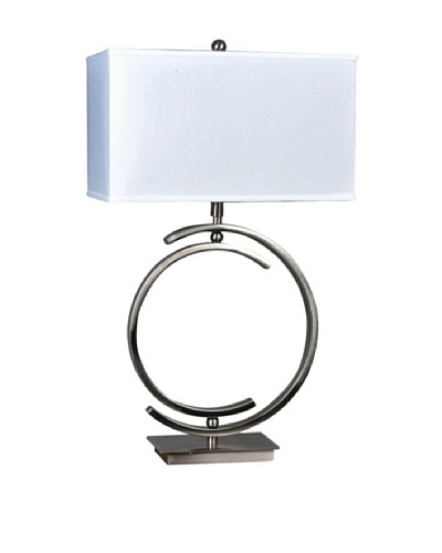 Greenwich Lighting Knox Table Lamp, Brushed Nickel