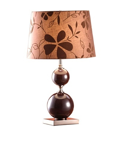 Greenwich Lighting Ilona Table Lamp, Dark Amber/Copper